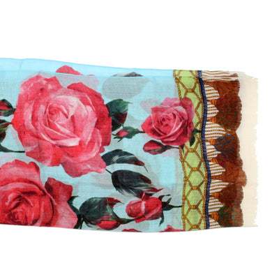 Dolce & Gabbana Scarf Sky Blue Red Pink