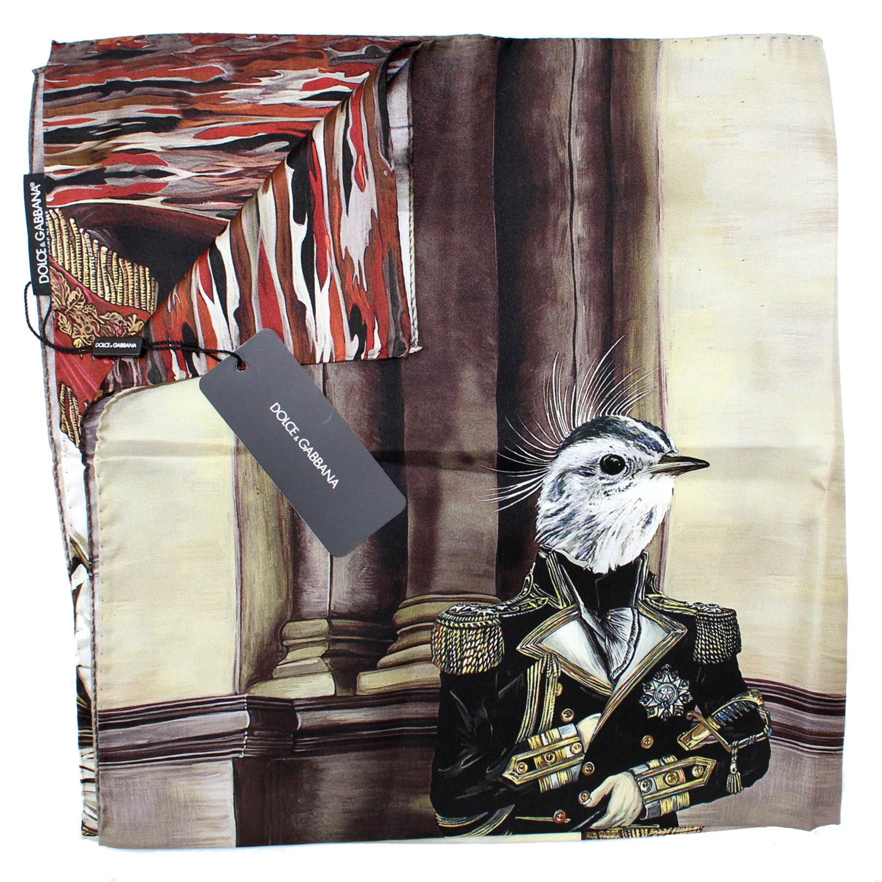 Dolce & Gabbana Scarf Brown Bird