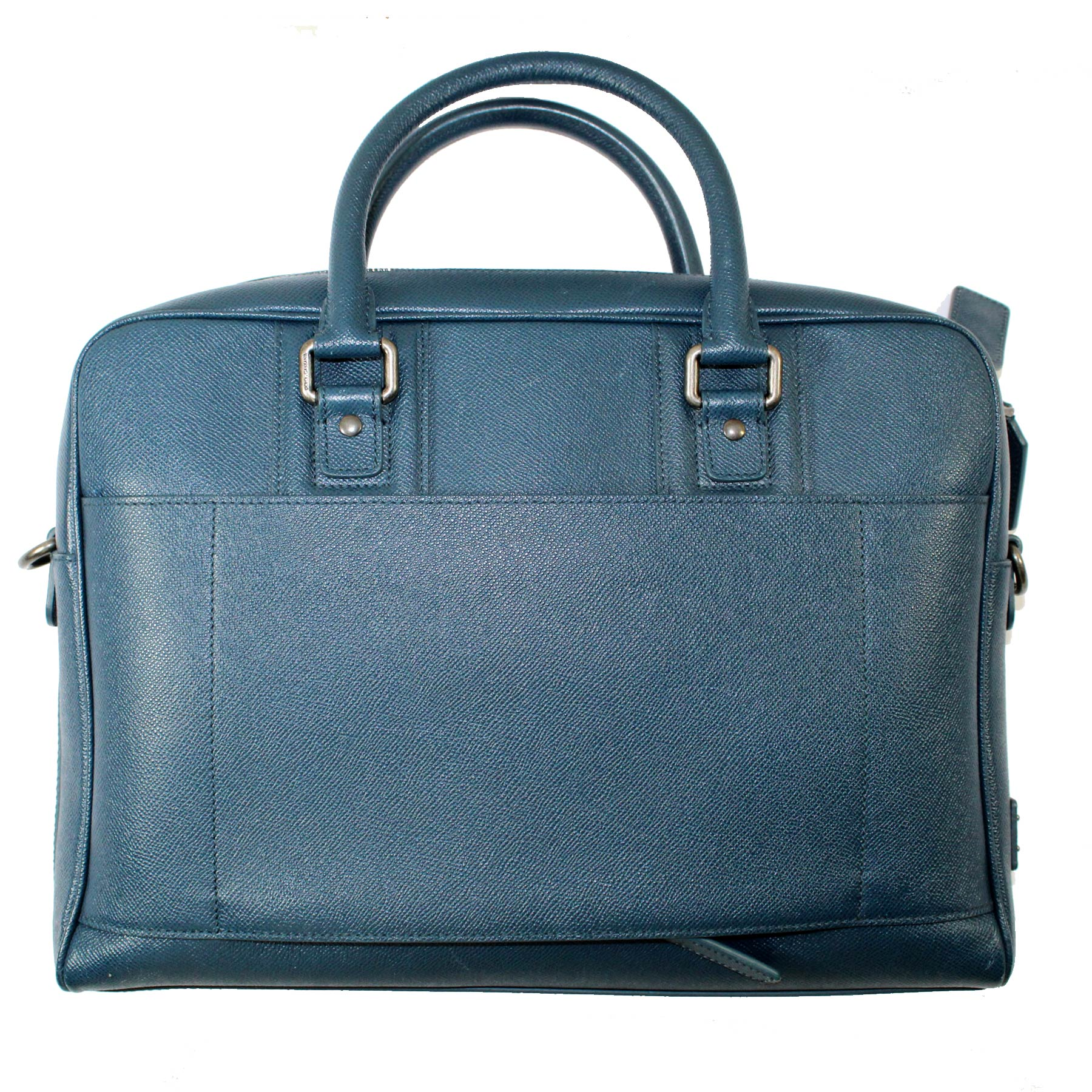 Dolce & Gabbana Bag Petrol Blue Leather Handbag