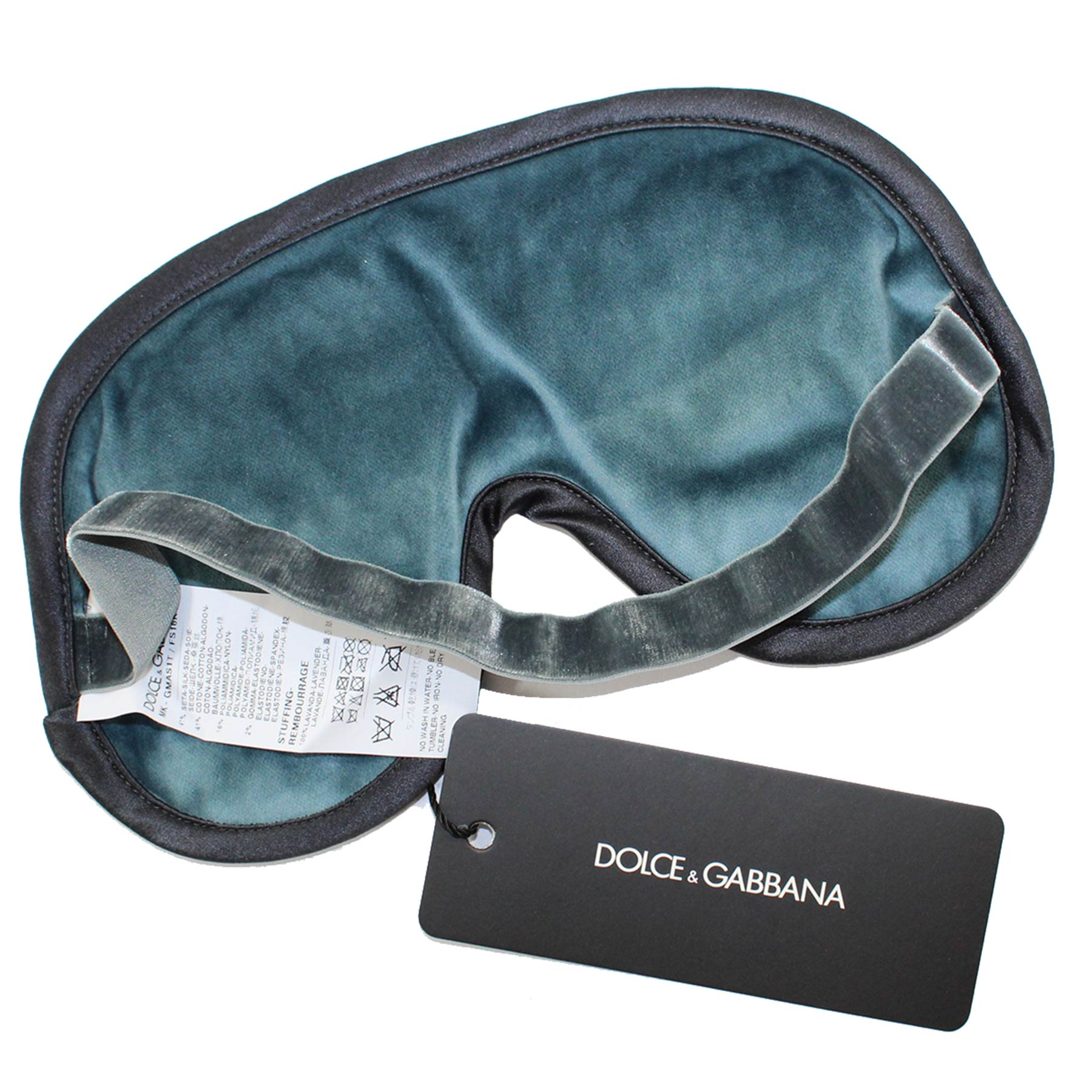 Dolce & Gabbana Silk Eye Shades Gray Floral