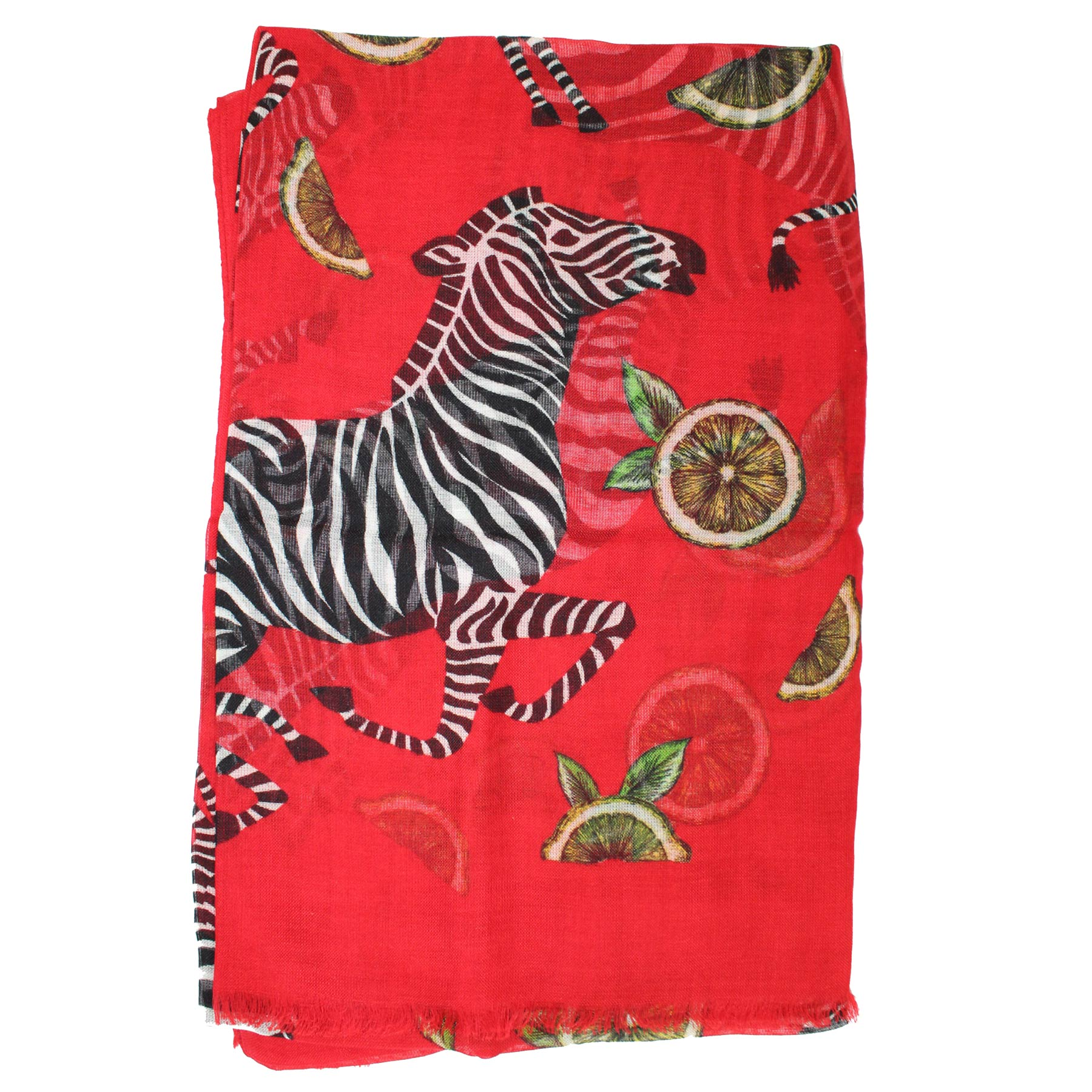 Dolce & Gabbana Scarf Red Zebra & Lemon