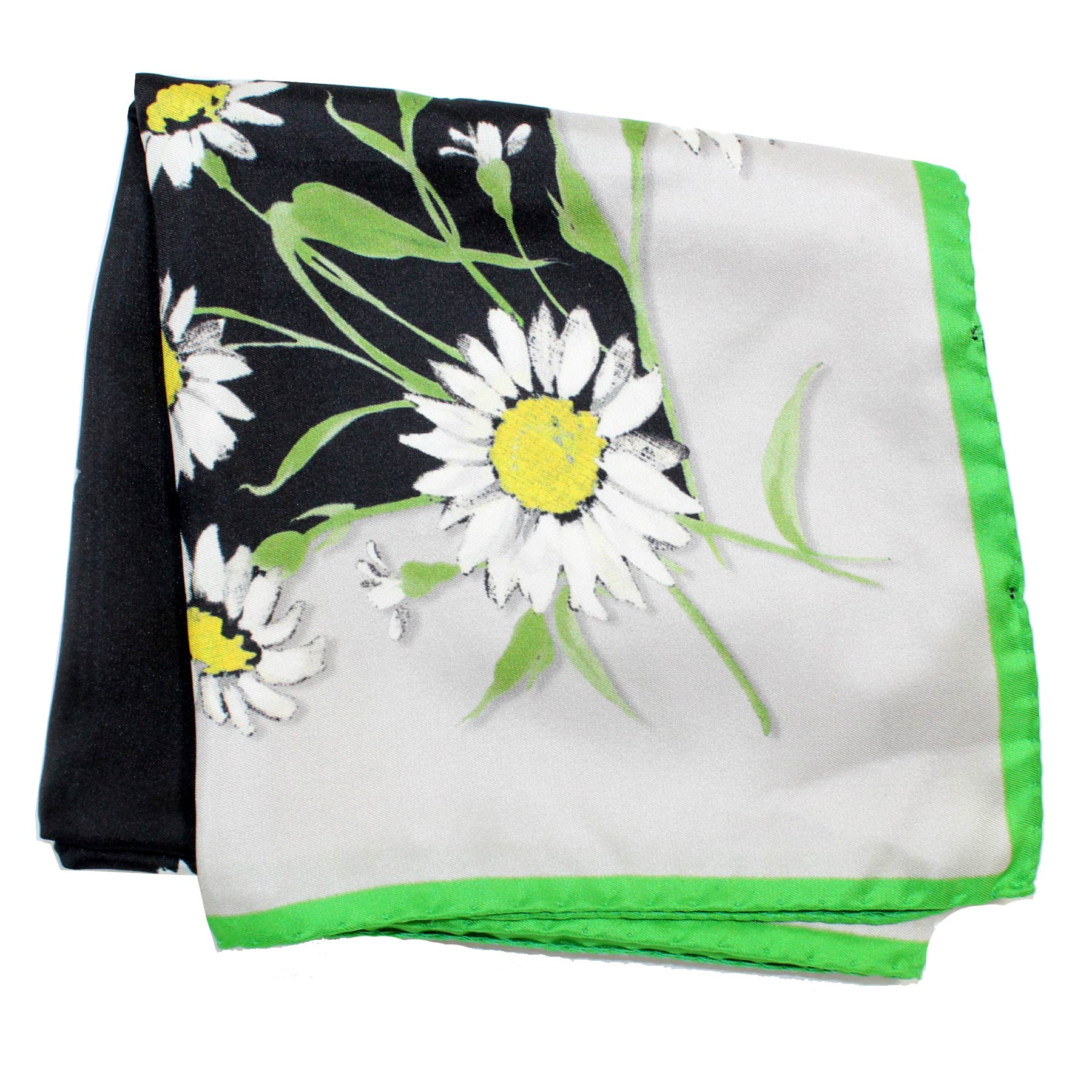 Dolce & Gabbana Scarf White Green Black Flowers