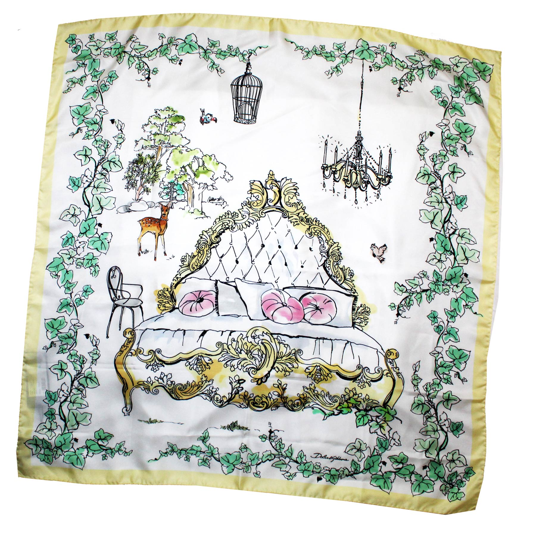 Dolce & Gabbana Scarf White Yellow