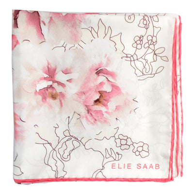 Elie Saab Scarf Pink Water Colors