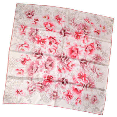 Elie Saab Scarf Pink Water Color Floral Large Square Silk Shawl