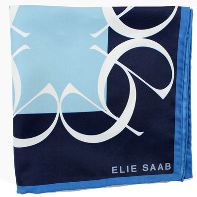 Elie Saab Scarf Blue Navy New