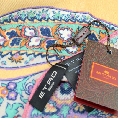 Etro Scarf Mint Lilac Paisley Floral