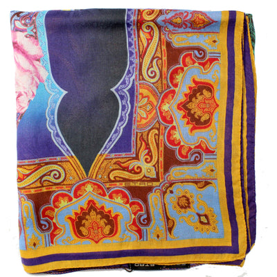 Etro Scarf Purple Mustard New