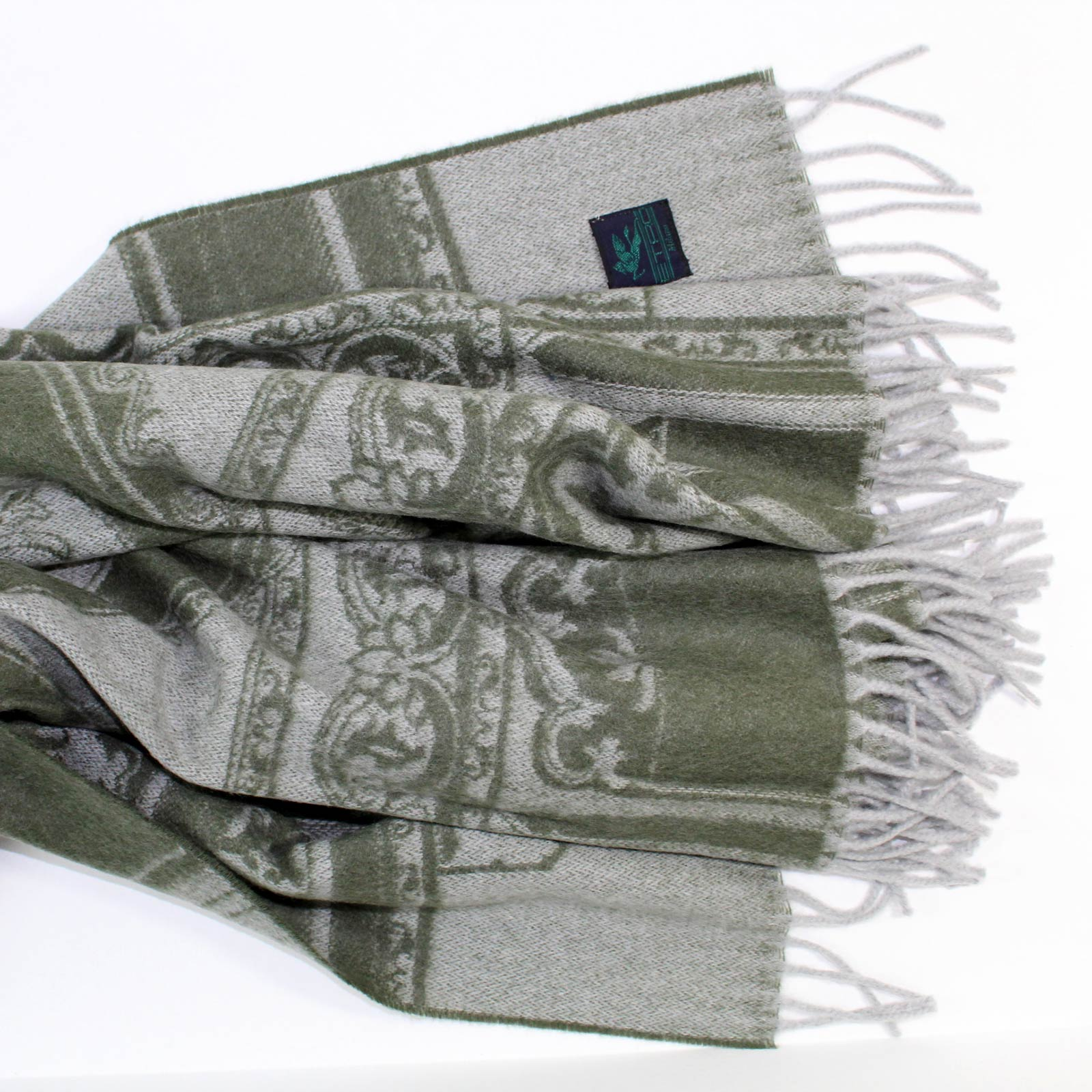 Etro Throw Gray Dark Green