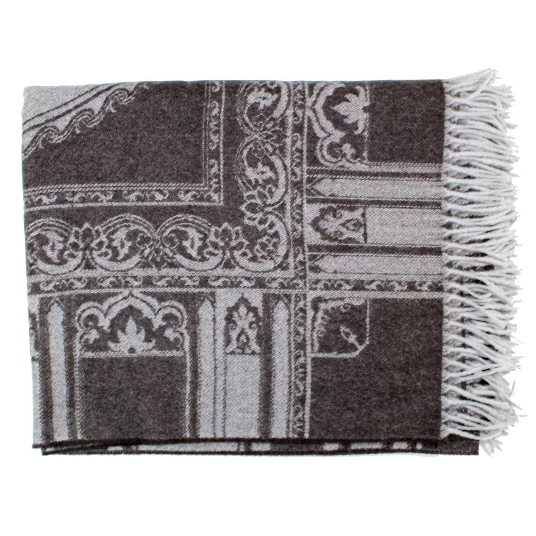 Etro Cashmere Throw Blanket Gray Design