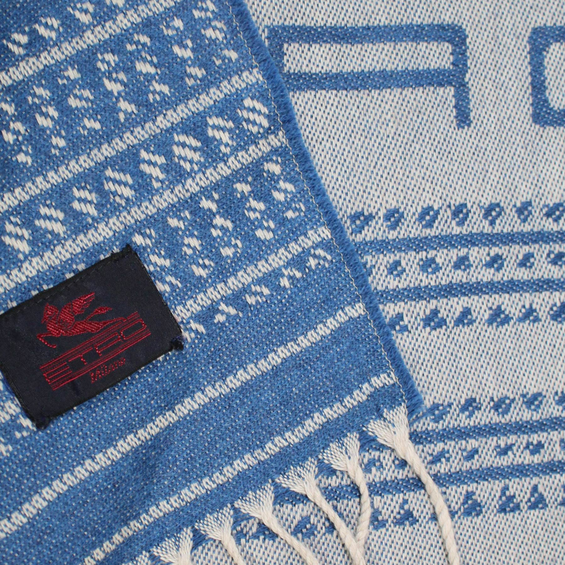 Etro Throw Blanket Blue Gray