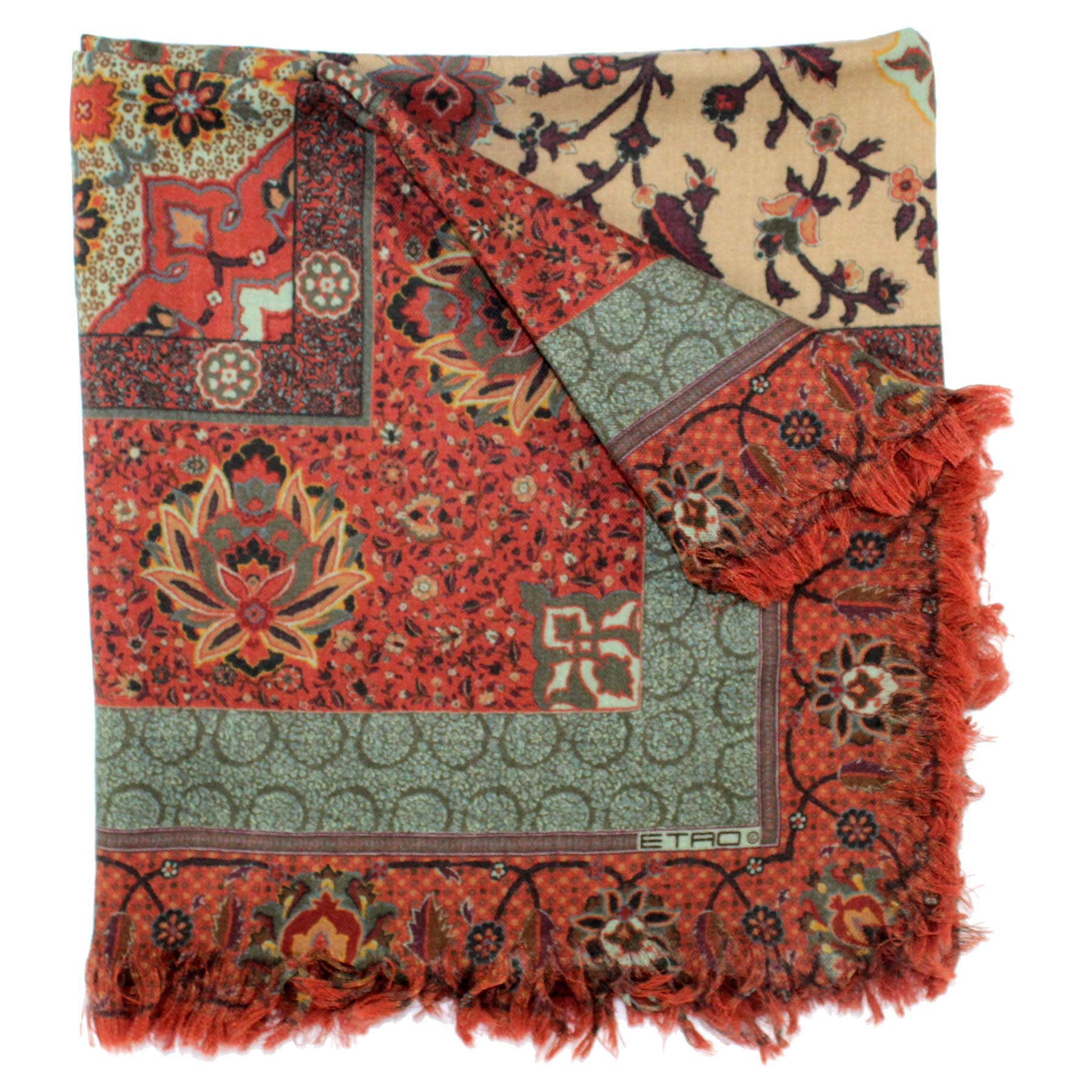 Etro Scarf Brick Red Design New