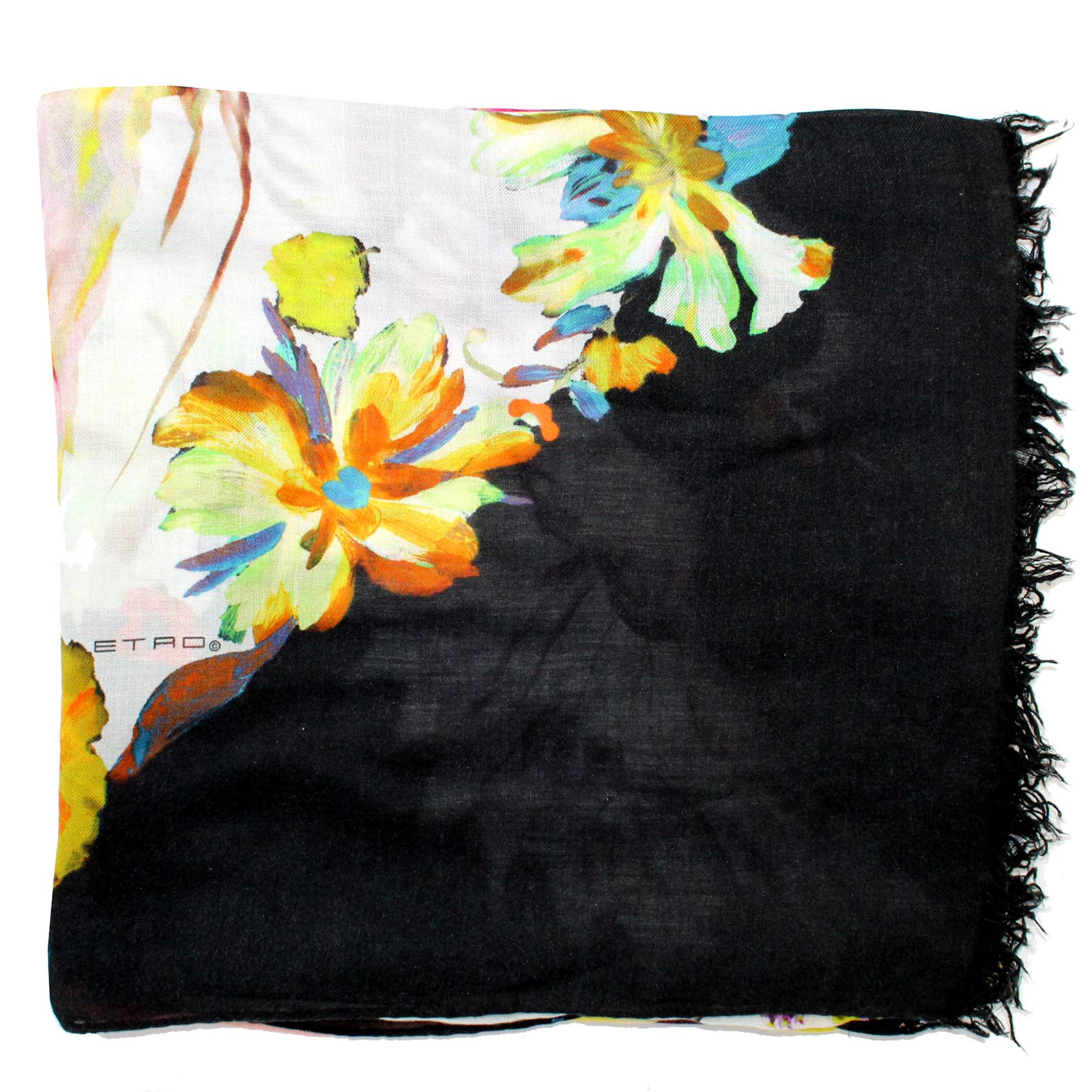 Etro Scarf Floral Design - Extra Large Modal Cashmere Wrap