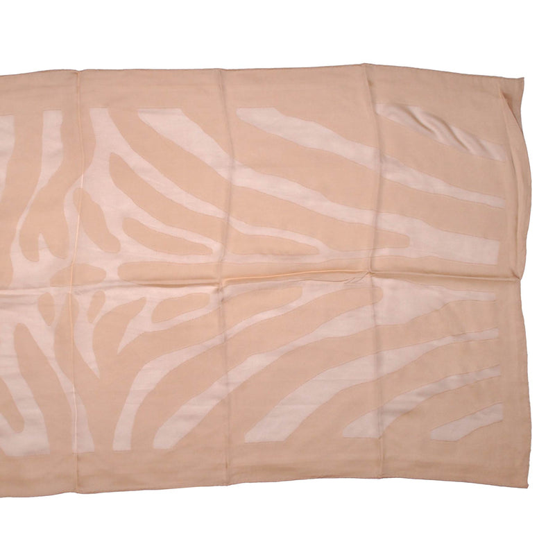 Fendi Scarf Tonal Cream Tiger Stripes Silk Shawl