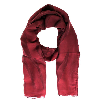Fendi Scarf Tonal Maroon Tiger Stripes Silk Shawl FINAL SALE