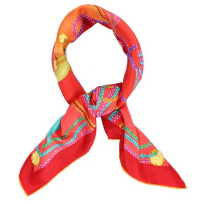 Salvatore Ferragamo Scarf Red Pink Orange Signature