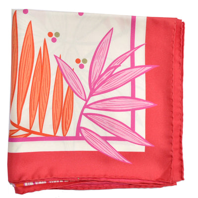 Salvatore Ferragamo Scarf Red Pink Orange Frog