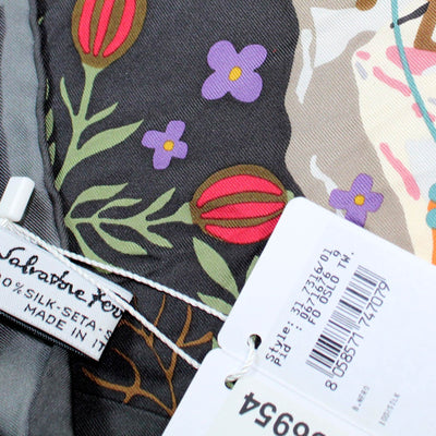 Salvatore Ferragamo Scarf Oslo Sk Black Border