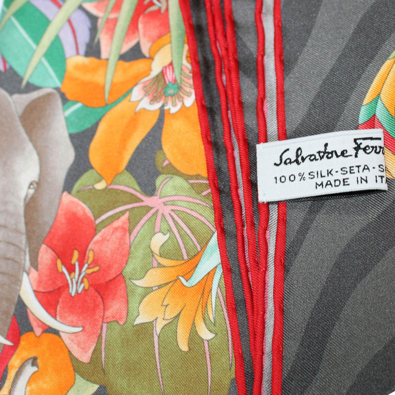 Ferragamo Scarf Gray Animal World