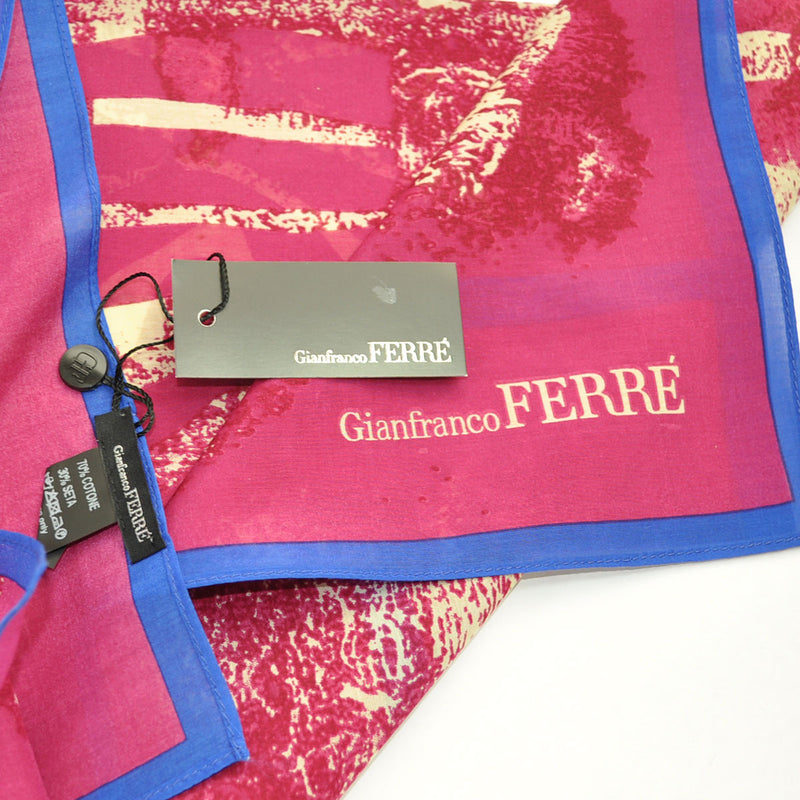 Gianfranco Ferre Silk Cotton Square Scarf