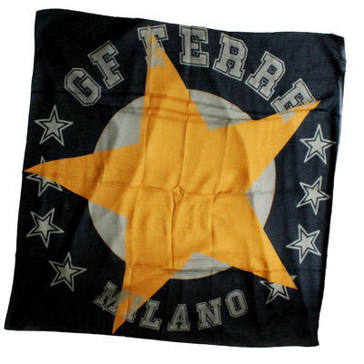 Gianfranco Ferre Scarf Gray Mustard Star Logo Design - Large Square Mo...