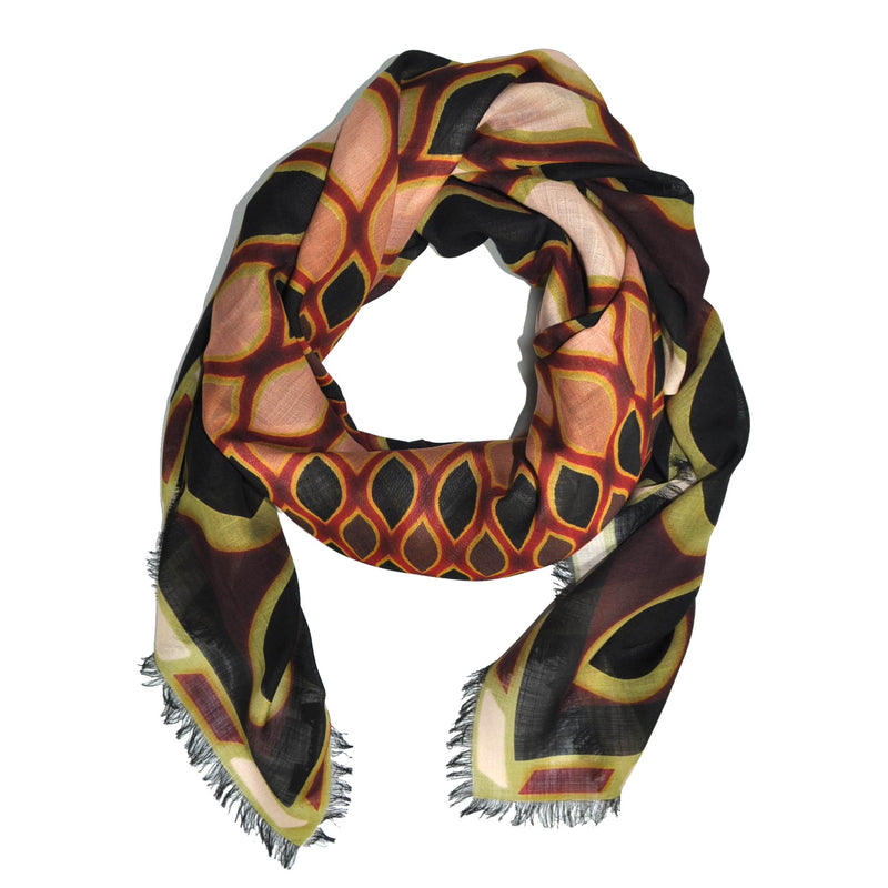 Givenchy Scarf Wool Kaleido Eye Design - Extra Large Square Scarf - FINAL SALE