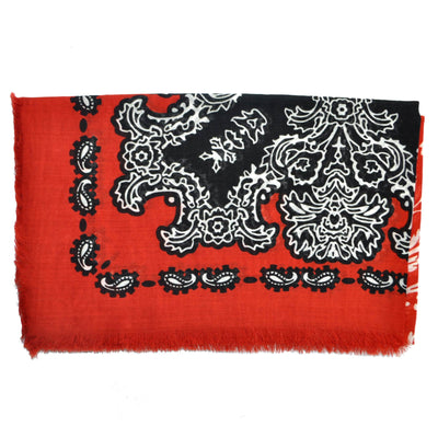 Givenchy Cashmere Scarf Red - Extra Large Square Scarf SALE