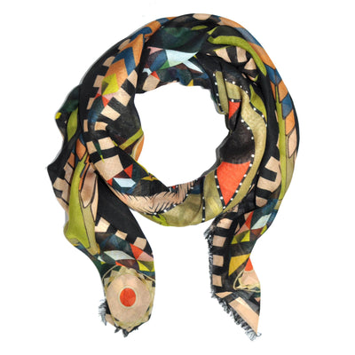Givenchy Scarf Cashmere Silk Egyptian Mask - Extra Large Square Scarf FINAL SALE