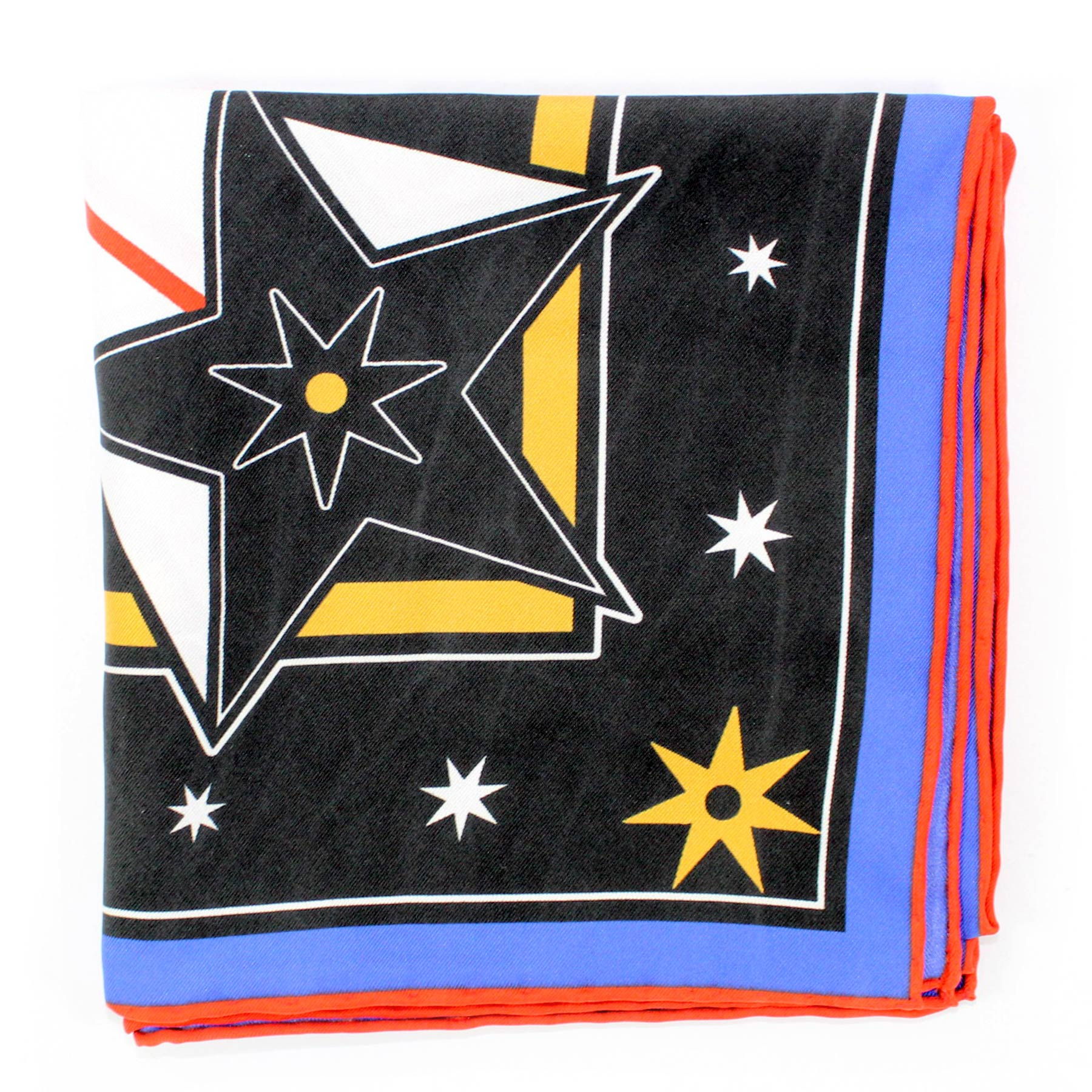 Givenchy Scarf Black Design - Twill Silk Square Scarf