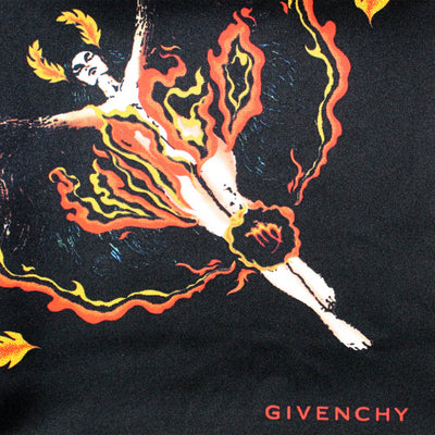 Givenchy Scarf Black Red Yellow Fire Women Scarves