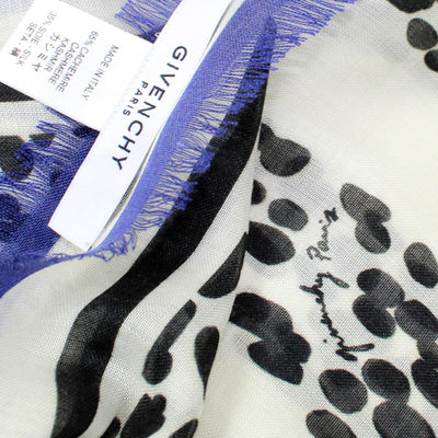Sale Givenchy Scarf Black White Panther