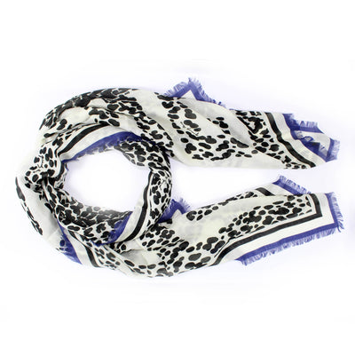 Givenchy Scarf Black White Panther Print - Cashmere Silk Women Shawl SALE