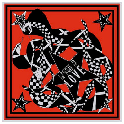 Givenchy Scarf Red SNAKE POWER OF LOVE - Silk Large Square Scarf