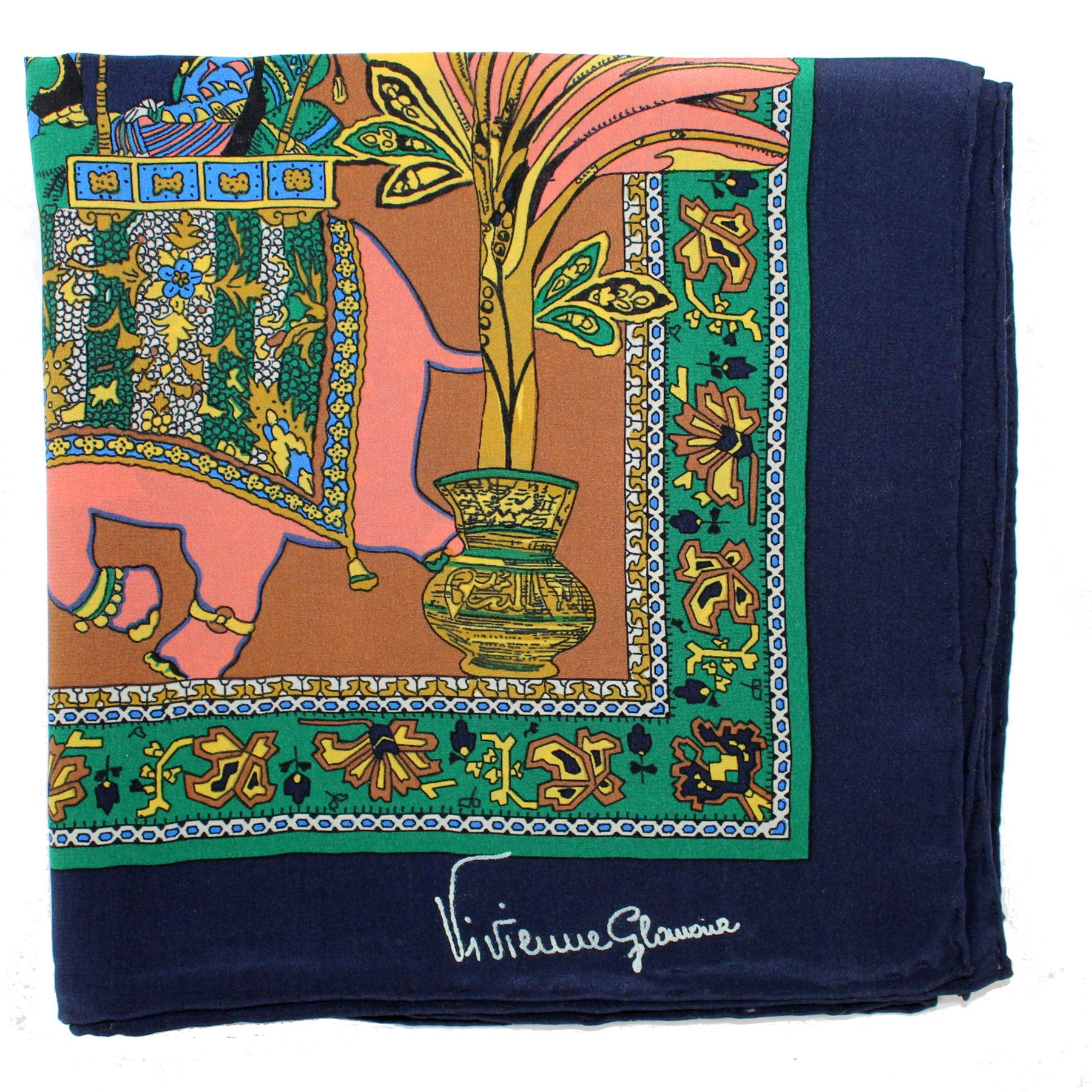 Elephant  Silk Square Scarf SALE