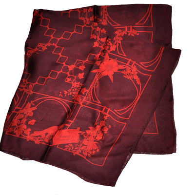 Gucci Stola Wine Purple Extra Large Square Scarf