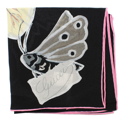 Gucci Scarf Black Kris Knight Butterfly