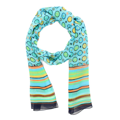Guess Scarf Sky Blue Stripes SALE