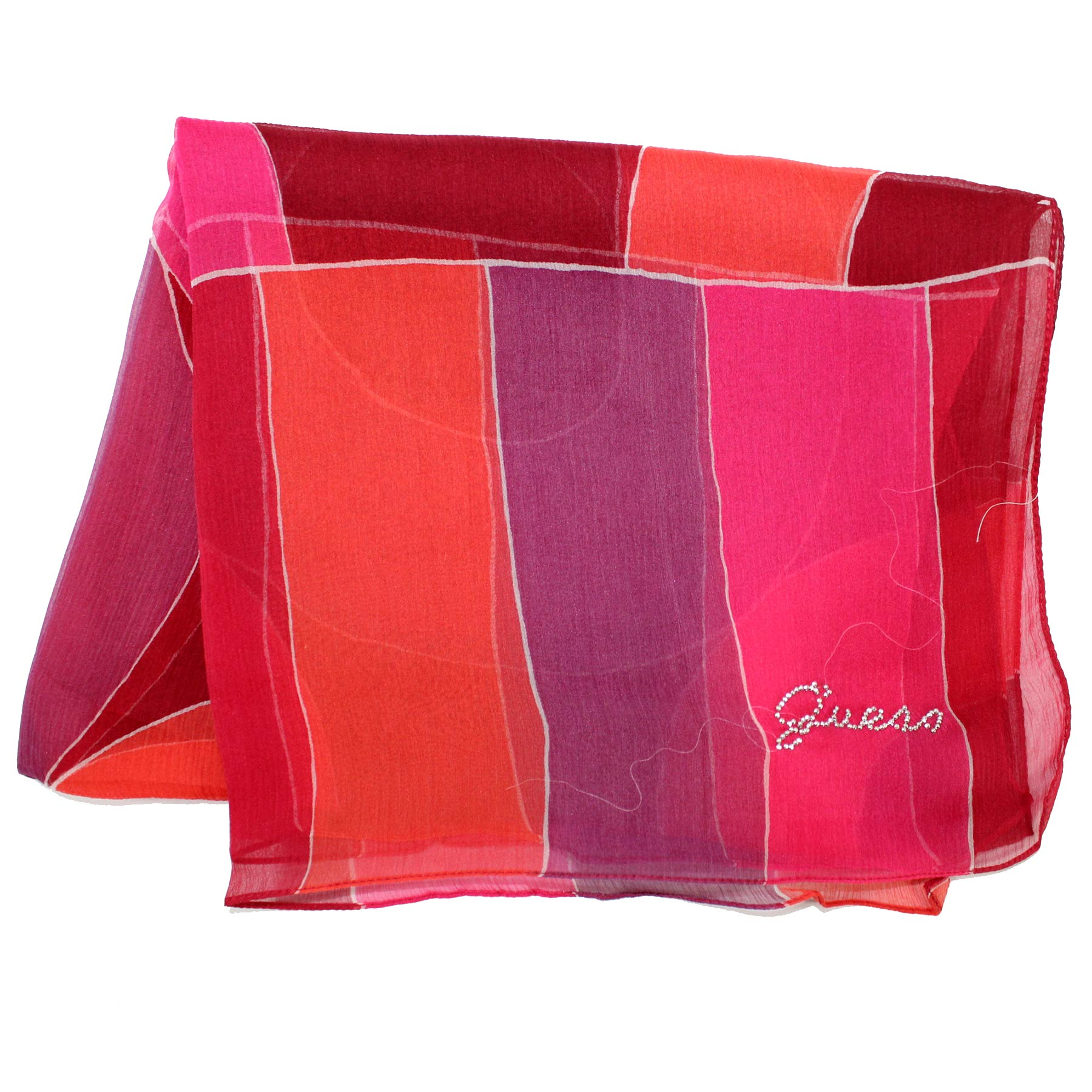 Guess Scarf Pink Orange Purple