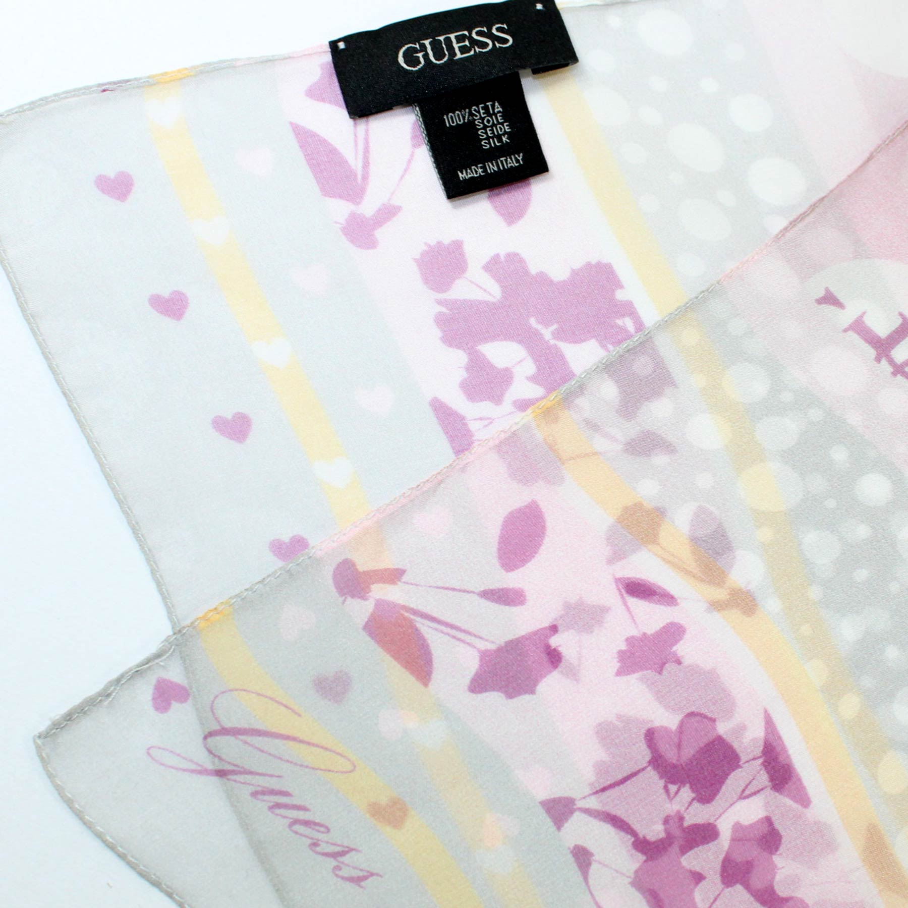 Guess Scarf Fuchsia Gray