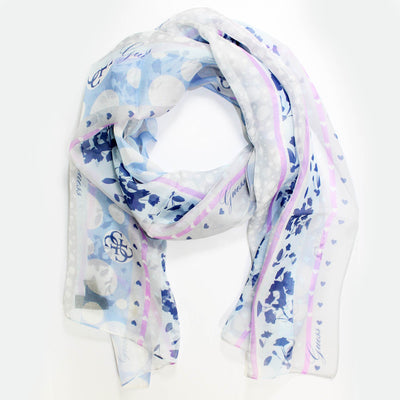Guess Scarf Blue Design