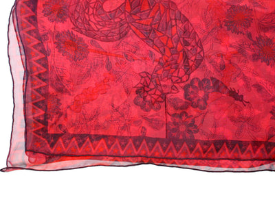Hermes Scarf Pink Red Axis Mundi New