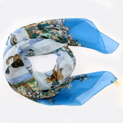 Hermes Scarf Cirque Molier Design - Extra Large Chiffon Silk Square Scarf