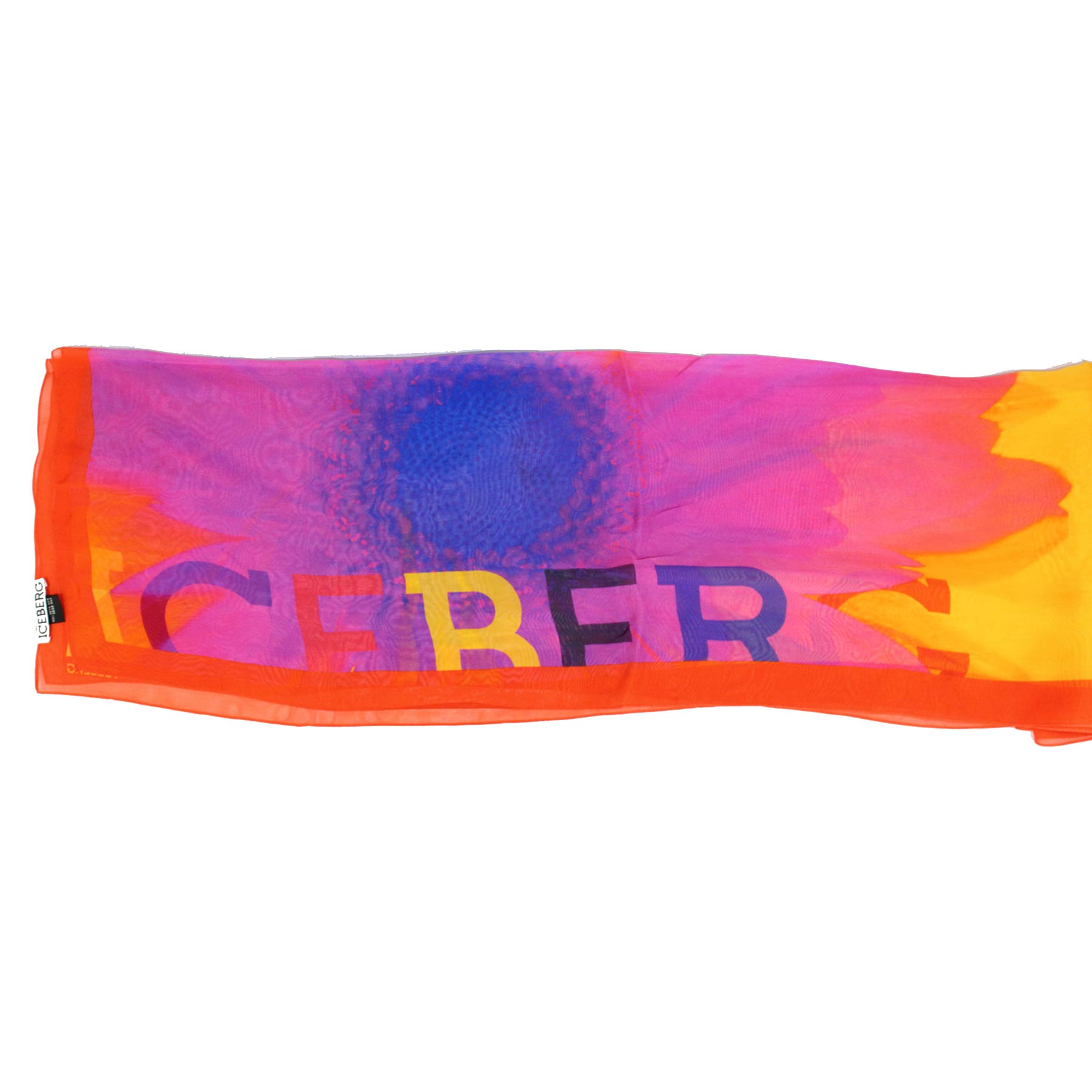 Iceberg Scarf Orange Purple Royal Blue SALE
