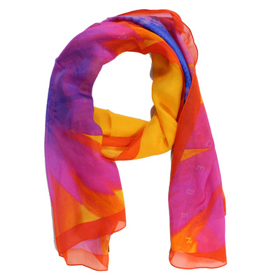 Iceberg Scarf Orange - Medium Square Silk Scarf