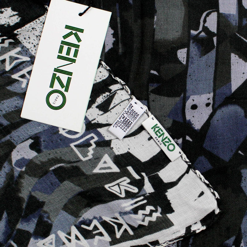 Kenzo Scarf Midnight Blue Gray Modal Shawl