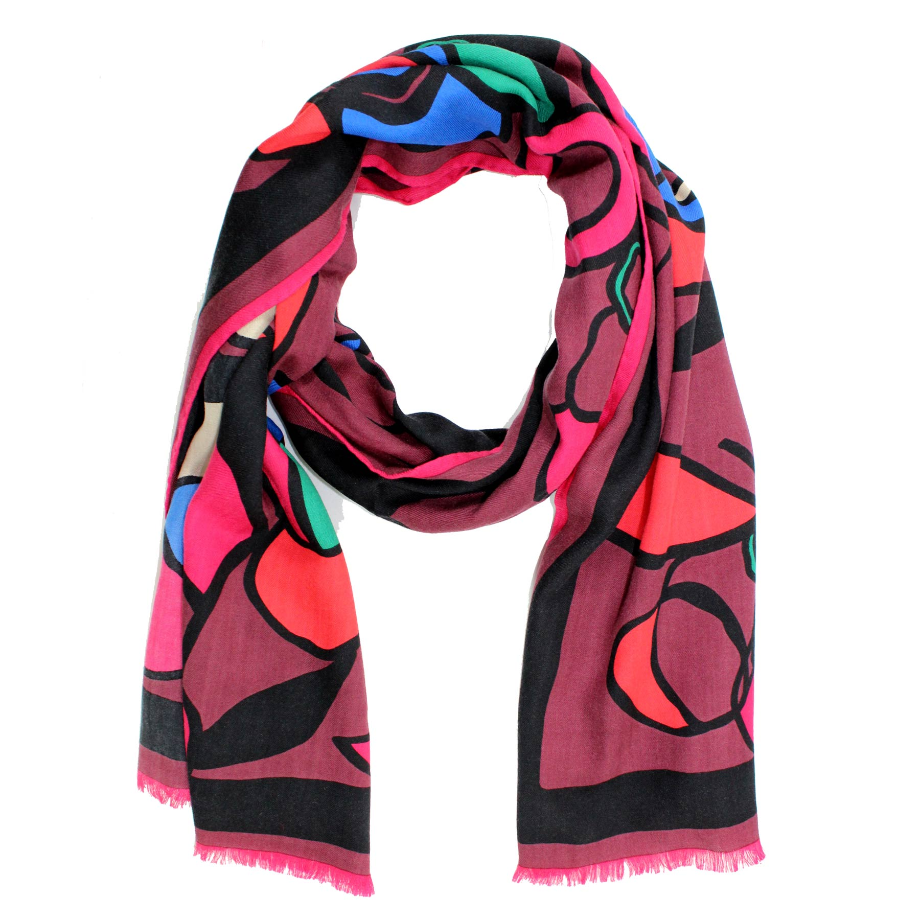 Kenzo Woman Scarf Wool Silk Shawl SALE