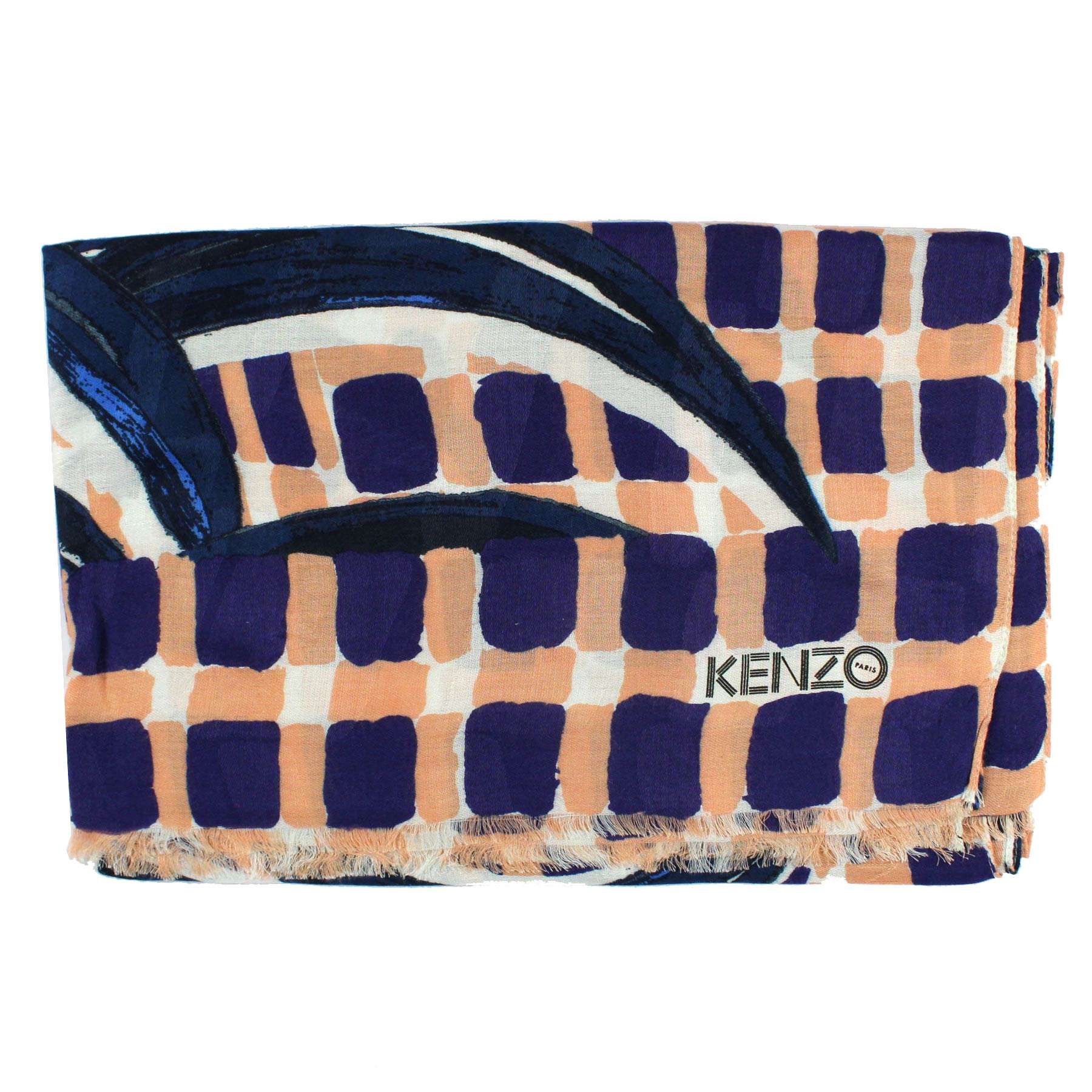 Kenzo Scarf Purple Pink Design - Modal Shawl New