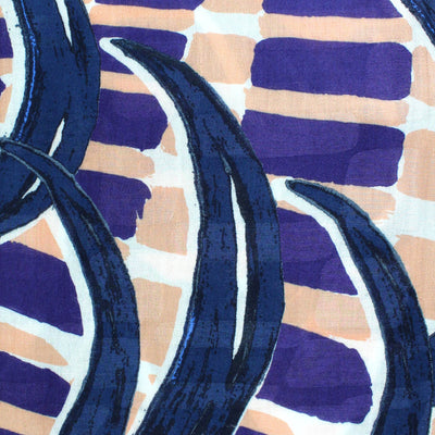 Kenzo Scarf Purple Pink Design - Modal Shawl Genuine