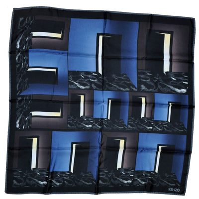 Kenzo Scarf Signature Design - Large Twill Silk Square Scarf