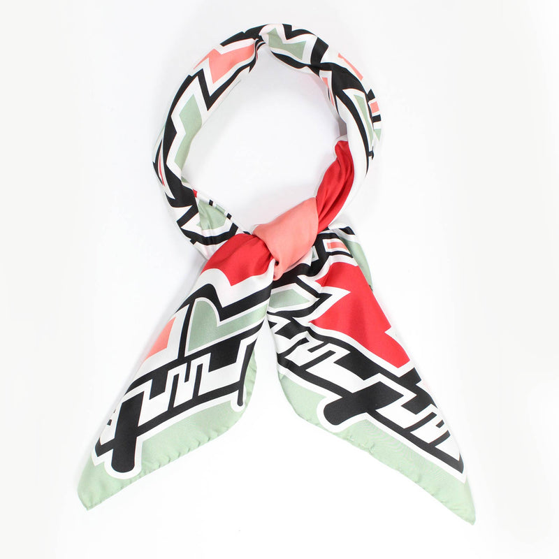 Kenzo Scarf Sage Pink Design - Large Silk Square Scarf FINAL SALE